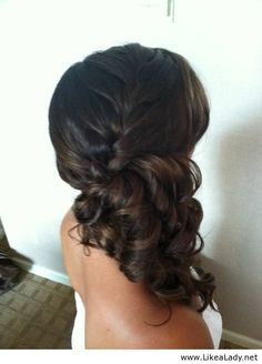 This could be cute for either the bride or the bridesmaids for the wedding.  I know there was talk of our hair being on the side