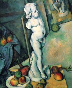 Still Life with Plaster Cupid - Paul Cezanne  #cezanne #paintings #art
