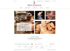 Sweet Sensualle Web page first look.
