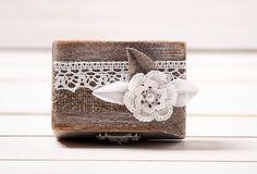 Ring Box Ehering Inhaber Kissen Träger Box von InesesWeddingGallery
