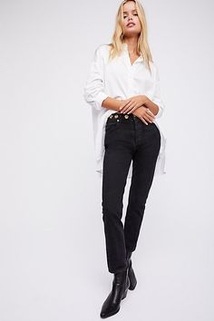 Slide View 1: Jamie High-Rise Classic Jeans