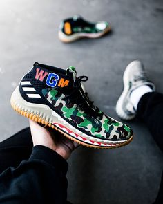 The Bape x adidas Dame 4 Green Camo is almost here!   by  thegoodwillout 68a7dfe0f