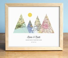 Adventure Together Gift Print - 4 Maps