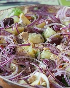 Red Rice Recipe, Nicoise Salad, Banana Cream, Rice Recipes, Potato Salad, Cabbage, Food And Drink, Favorite Recipes, Dinner