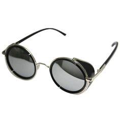 02057b3020 Round Steampunk Sunglasses Mens Glasses