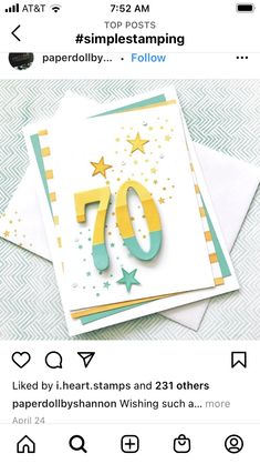 50th Birthday, Birthday Cards, April 24, Stamp, Simple, Bday Cards, 50th Anniversary, Stamps, Birthday Greetings