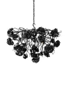 The Love you Love you not 120 Chandelier - round by Brand Van Egmond has been designed by William Brand, Annet van Egmond. The rose, while the icon of love, also symbolises the thin line between love gained and love lost. It's out of your hands, . Gothic Chandelier, Round Chandelier, Diy Chandelier, Chandeliers, Italian Chandelier, Dark Home Decor, Goth Home Decor, Goth Bedroom, Master Bedroom