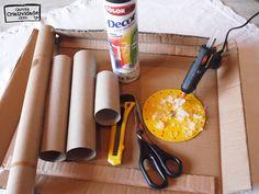 Como fazer porta relógios ou porta pulseiras com reciclagem - Material