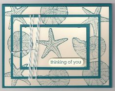 stampin up By the seashore cards   used this fun by the seashore set with island indigo ink paper and ...
