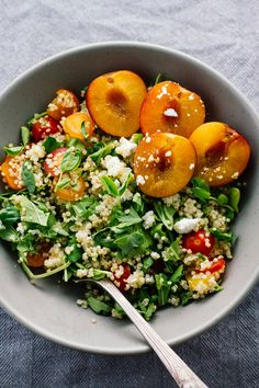 Cherry Plum & Goat Cheese Summer Salad