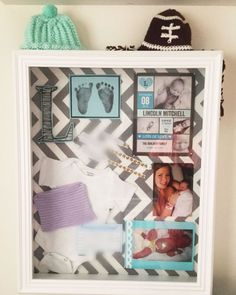 New Baby Shadowbox--Great/simple way to keep track and display all those important things from their first moments!