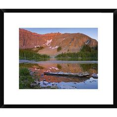 Global Gallery Palmyra Peak Reflected in Alta Lake Near Telluride, Colorado by Tim Fitzharris Framed Photographic Print Size: