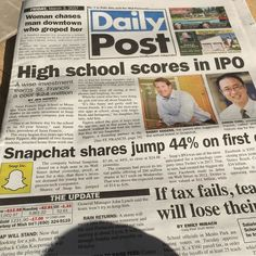 Front page of today's Palo Alto Daily is the most Silicon Valley thing ever.