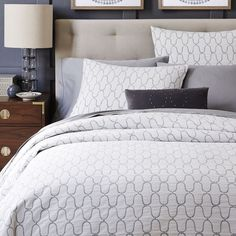 The pattern in this duvet is soothing and elegant. West Elm