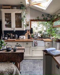 Küchen Design, House Design, Interior Design, Interior Colors, Interior Plants, Interior Ideas, Modern Design, Home Kitchens, Cottage Kitchens