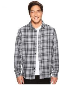Hurley Porter Long Sleeve Flannel (Black) Men's Clothing