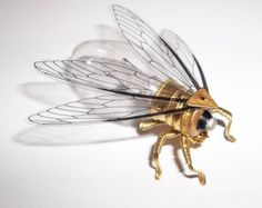 Steampunk brooch  Large Insect Vacuum Tube von spankyspanglerdesign
