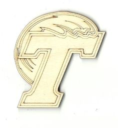 Tulane Unfinished Laser Cut Wood Shape SPT41