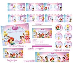 Disney Princess Babies Digital Package by digitalparties on Etsy, $20.00
