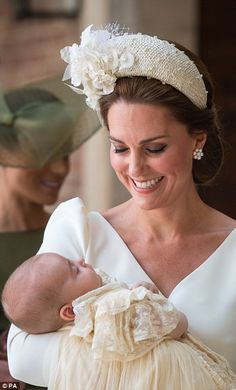 Kate with Prince Louis today