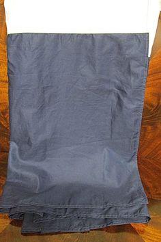 Ralph Lauren Huntley Solid Navy Blue King Bedskirt Tailored Finish Euc 18 Drop - Bed Skirts