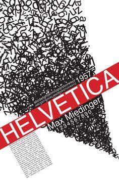 Helvetica Poster #typography #font