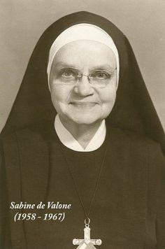 Reverend Mother Sabine de Valon, RSCJ, Superior General of the Society of the Sacred Heart 1958-1967.