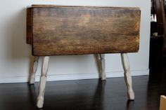 This is the future of my drop leaf table, so similar to the look I was hoping to achieve!
