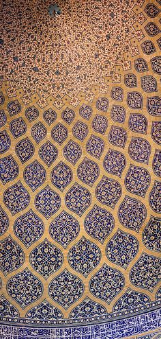 Safavid Surfaces and Parametricism, Iran | Features | Archinect - amazing cut-tile ceramic arabesques surrounded with flowing tan brickwork