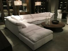 """Restoration Hardware Sectional """"cloud"""" couch"""