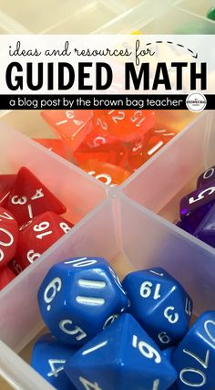 Amazing step-by-step guided for setting-up guided math, grouping students, differentiating centers, and SO much more. Great freebies, too!