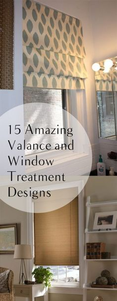 15 Amazing Valance and Window Treatment Designs. DIY, DIY home projects, home décor, home, dream home, DIY kitchen, DIY kitchen projects, weekend DIY projects.