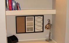 built in desk/shelves for David's room