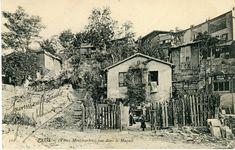 Montmartre - Maquis (Sur cette carte, on aperçoit le bateau-lavoir sur la droite)