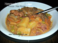 """A hearty beef stew is great. One that's cheaper than buying a """"can"""" of stew is even better!"""