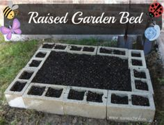 Cinder Block Garden Bed - would be cool to paint them first.