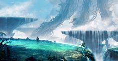 """Yet another anime-inspired matte painting. (-: This scene is a landscape brought to life from """"Made in Abyss"""", which aired just a few weeks ago (thanks a bunch to xLocky for the recommendation!). T..."""