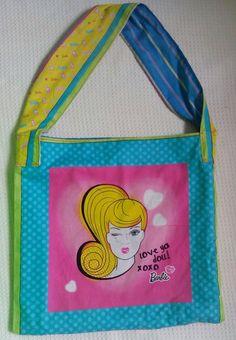 Barbie Tote - one of a kind larissamyrie.art #fashion #style #art #barbie #shoppingbag #totebag #shoulderbag #slowfashion