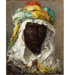 """Jean-Joseph Benjamin-Constant, """"Head of a Moor"""", circa 1875"""