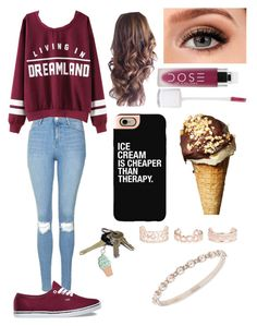 Going on an ice cream run by dv5973 on Polyvore featuring polyvore, moda, style, Topshop, Vans, Marchesa, New Look, Casetify, Kate Spade, fashion and clothing