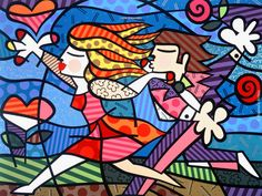 The Official web site for Pop Artist Romero Britto, view the latest events and artwork commissions of paintings and sculpture reflecting a modern pop art theme combined with the influences of early modern masters… Paris Kunst, Paris Art, Graffiti Painting, Graffiti Art, Arte Pop, Caravaggio, Paper Architecture, Tableau Design, Art Web