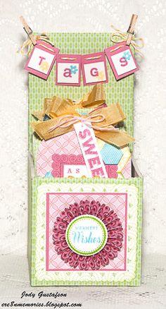 box of tags by Jody Gustafson