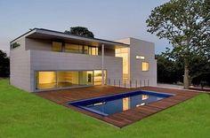 Fachada para casa minimalista