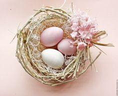 Купить Настольная композиция Розовая Сирень - бледно-розовый, пасхальный сувенир, декор стола