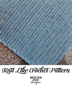 Knit Like Crochet Blanket Pattern - Rescued Paw Designs