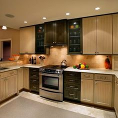 Kitchen Two-tone Cabinets Design, Pictures,Kraftmaid cabinets with a glaze