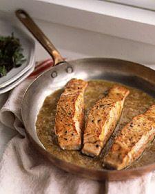 Salmon with Warm Passion-Fruit Vinaigrette Recipe
