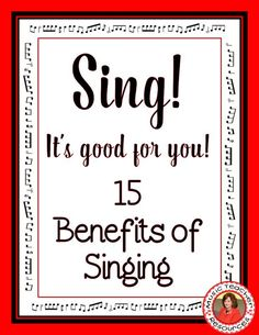 Singing is good for your health and well-being. Download the 15 Benefits of Singing! ♫ CLICK through to read more or repin for later! ♫