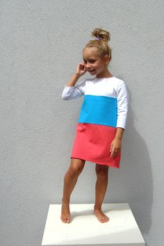 colorbinding Kleider - Drei Farben - ein Designerstück von millupa bei DaWanda