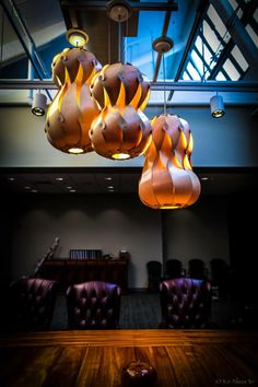 Lamps by artist Mark Chai.